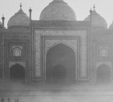 Beautiful Taj Mahal in a foggy day Sticker