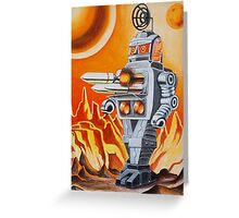 MISSLE ROBOT Greeting Card