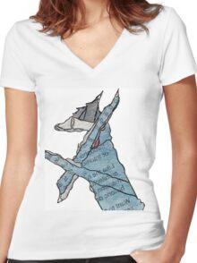 005 Women's Fitted V-Neck T-Shirt