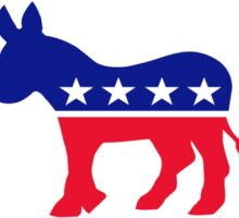 I only sleep with Democrats Sticker