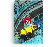 Suicidal clown! Canvas Print