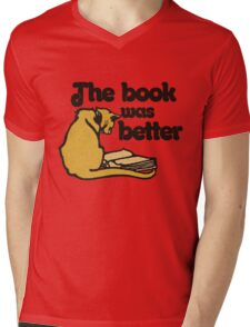 The book was better vintage cat Mens V-Neck T-Shirt