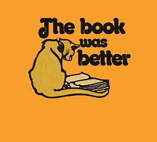 The book was better vintage cat Womens Fitted T-Shirt