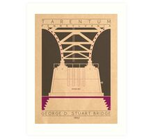 George D. Stuart Bridge - 1952 (Purple) Art Print