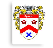 Agnew Coat of Arms/Family Crest Canvas Print