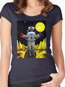 B-9 ROBOT LOST IN SPACE Women's Fitted Scoop T-Shirt