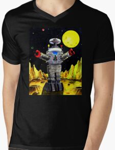 B-9 ROBOT LOST IN SPACE Mens V-Neck T-Shirt