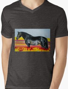 """In an Ocean of Color"" - Color Pencil portrait Mens V-Neck T-Shirt"