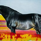 """In an Ocean of Color"" - Color Pencil portrait by SD 2010 Photography & Equine Art Creations"