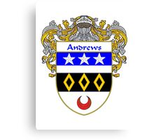Andrews Coat of Arms/Family Crest Canvas Print