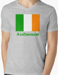 Andrews Irish Flag Mens V-Neck T-Shirt