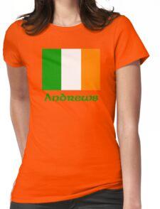 Andrews Irish Flag Womens Fitted T-Shirt