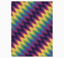 Retro Zig Zag Chevron Pattern Kids Tee