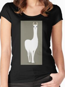 STANDING LLAMA #8 Women's Fitted Scoop T-Shirt