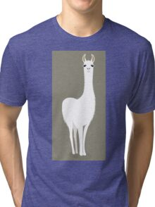 STANDING LLAMA #8 Tri-blend T-Shirt