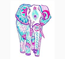 Pink and Blue Elephant Unisex T-Shirt