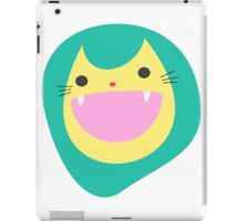 Happy Cat Cartoon iPad Case/Skin
