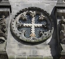 Rosslyn Chapel, Roslin, Scotland (side window) by MagsWilliamson