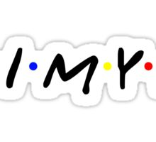 HIMYM logo in the style of Friends Sticker