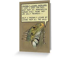friendly lizard overlord Greeting Card