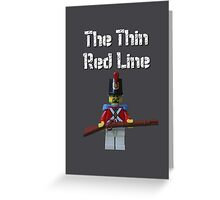 The Thin Red Line by Tim Constable Greeting Card