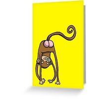 Monkabum Greeting Card