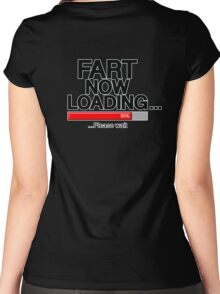 Fart Now Loading - Red Bar Women's Fitted Scoop T-Shirt