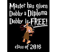Dobby is Free! Graduation 2016 Photographic Print