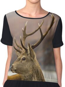 Autumnal Stag Chiffon Top