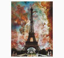 The Eiffel Tower - Paris France Art By Sharon Cummings Kids Tee