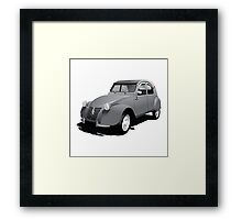 Citroën 2CV gray Framed Print