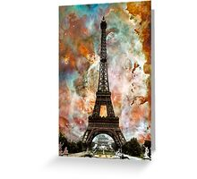 The Eiffel Tower - Paris France Art By Sharon Cummings Greeting Card