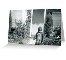 Found Photo Halloween Card - Devil Child Greeting Card