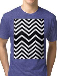Retro Zig Zag Chevron Pattern Tri-blend T-Shirt