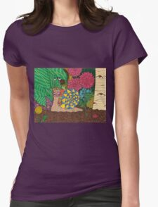 Snail's Eye View Womens Fitted T-Shirt