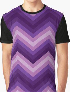 Retro Zig Zag Chevron Pattern Graphic T-Shirt
