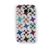 Churn Dash and Falling Stars Quilt Samsung Galaxy Case/Skin