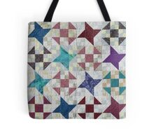 Churn Dash and Falling Stars Quilt Tote Bag