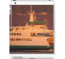 Ferry Tacoma during sunrise iPad Case/Skin