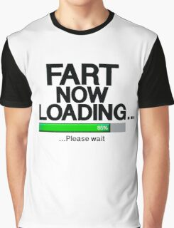 Fart Now Loading - Green Bar Graphic T-Shirt