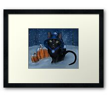 Frost in the Pumpkin Patch Framed Print