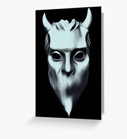 NAMELESS GHOUL - silver oil paint Greeting Card
