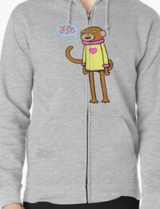 Arse Monkey Zipped Hoodie