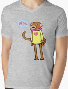 Arse Monkey Mens V-Neck T-Shirt