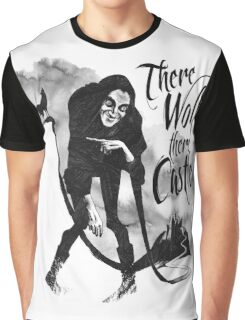 There Wolf There castle Graphic T-Shirt