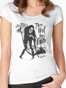 There Wolf There castle Women's Fitted Scoop T-Shirt