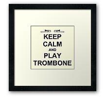 Play Trombone (Black) Framed Print