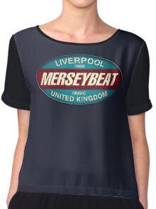 Vintage Liverpool 1960 Merseybeat UK Chiffon Top