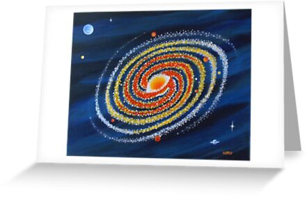HOT SPIRAL GALAXY by ward-art-studio