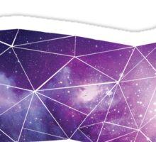Geometric Space Cat Sticker